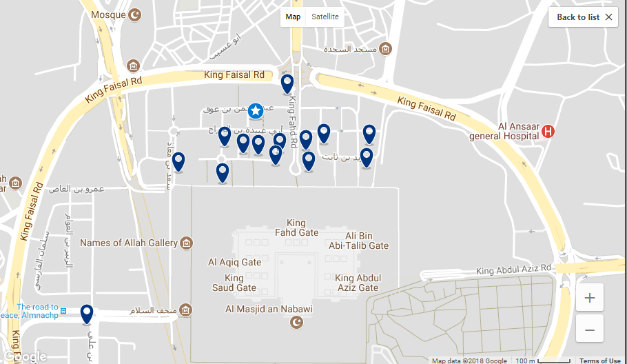 Hotels near gate 25, Badaah area of Madinah